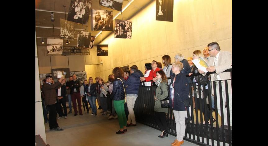 Powiększ obraz: Wizyta dyrektorów i menadżerów instytucji kultury w Muzeum w Bełżcu