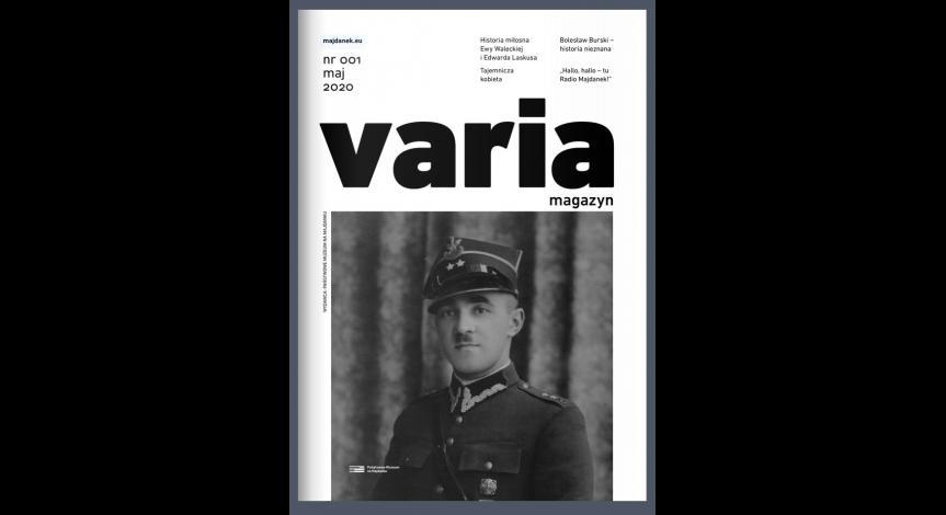 Varia. magazyn / nr 1 / maj 2020 okładka