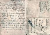 Pokaż powiększenie powyżej: 24 kwietnia Abram Bajler, bratanek Szlamka, wysłał do Hersza Wassera list, w którym poinformował o losie matki i wujka Szlamka, którzy najprawdopodobniej ponieśli śmierć w obozie zagłady w Bełżcu.