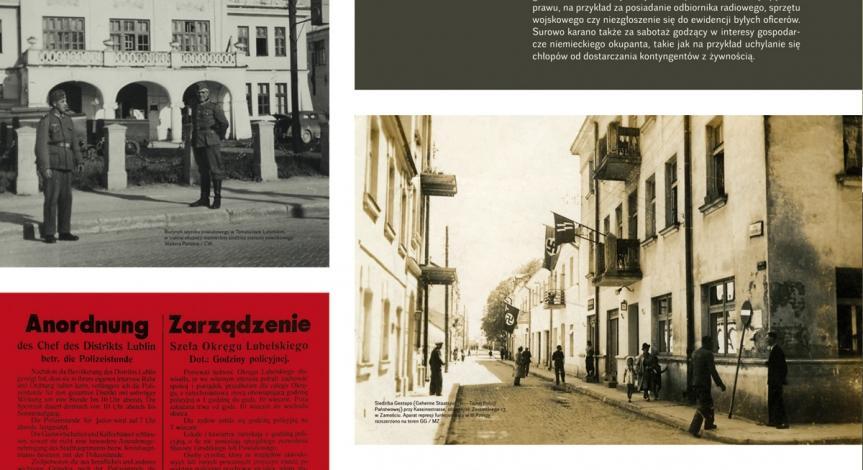 """Wystawa czasowa """"Res non humana - rzecz nieludzka"""". Okupacja niemiecka Zamojszczyzny 1939-1944"""