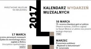 Kalendarz wydarzeń muzealnych 2017